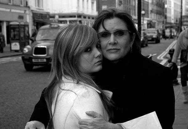 Billie Lourd z mamą Carrie Fisher