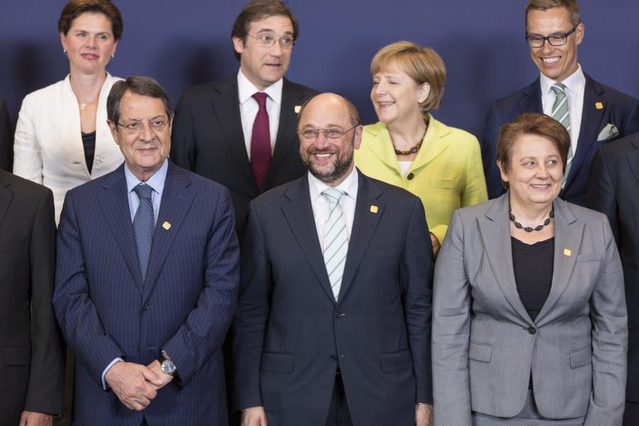Europejscy przywódcy na szczycie Unii Europejskiej