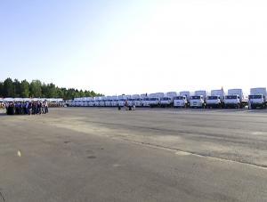 Konwój dotarł na Ukrainę. Wjechały pierwsze rosyjskie ciężarówki