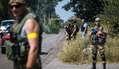 """Ukraińscy żołnierze z batalionu """"Donbas"""""""