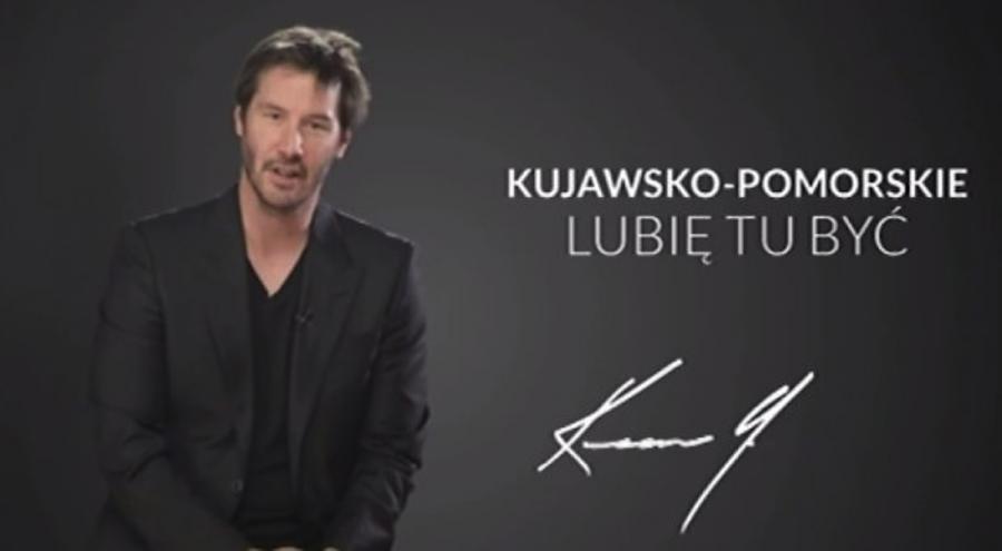 Keanu Reeves reklamuje kujawsko-pomorskie
