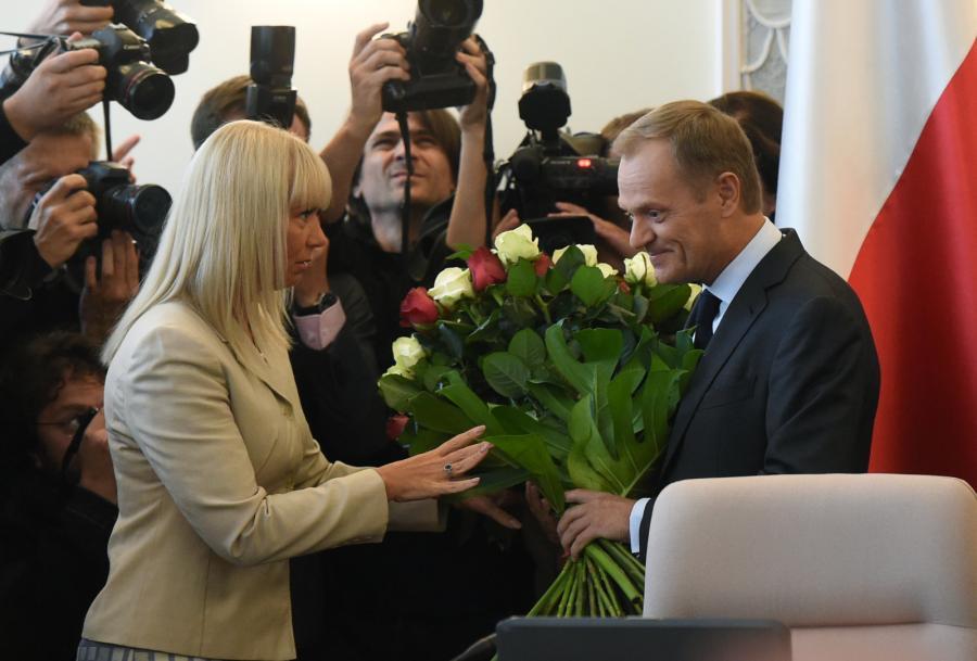 Elżbieta Bieńkowska i Donald Tusk