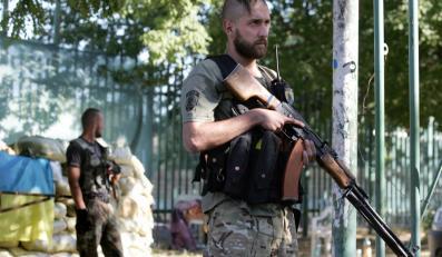"""Mariupol: Ukraiński żołnierz z batalionu """"Azow"""""""