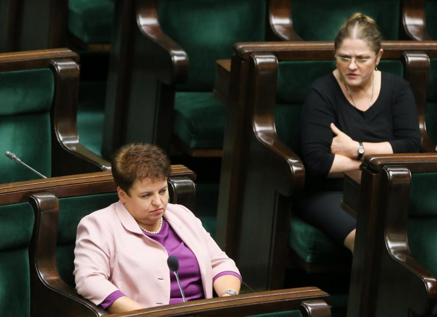 Posłanki Marzena Wróbel i Krystyna Pawłowicz