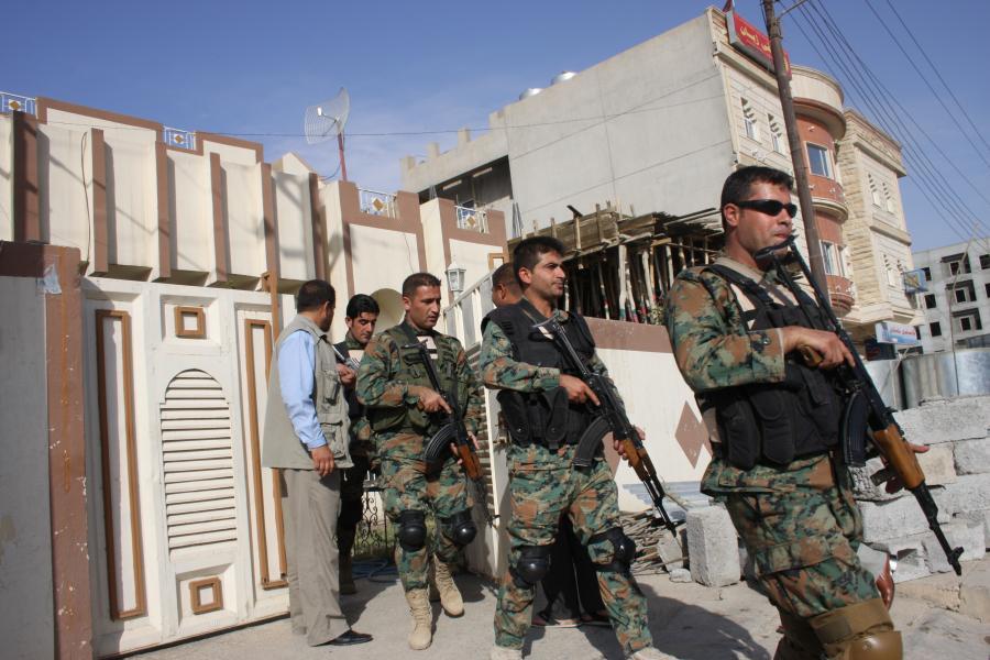 Kurdyjscy żołnierze w Iraku
