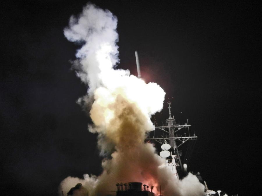 Wystrzelenie amerykańskich pocisków manewrujących Tomahawk