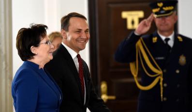 Premier Ewa Kopacz i marszałek Radosław Sikorski