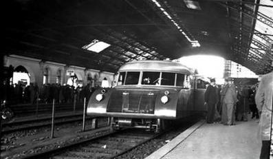 """Próbna jazda """"torpedy podhalańskiej"""" - Dworzec Główny w Krakowie - sierpień 1933 rok"""