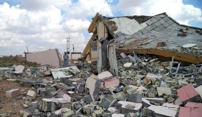 Zniszczona szkoła w Tikricie