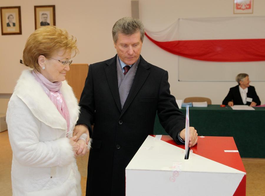 Czesaw Małkowski z żoną Jadwigą