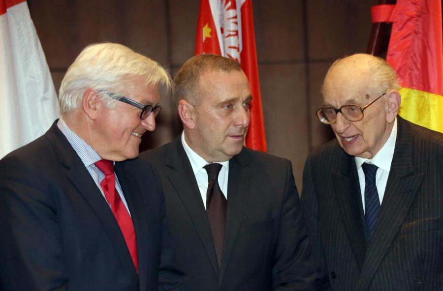 Frank-Walter Steinmeier, Grzegorz Schetyna, Władysław Bartoszewski