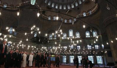 Papież Franciszek w Błękitnym Meczecie w Stambule
