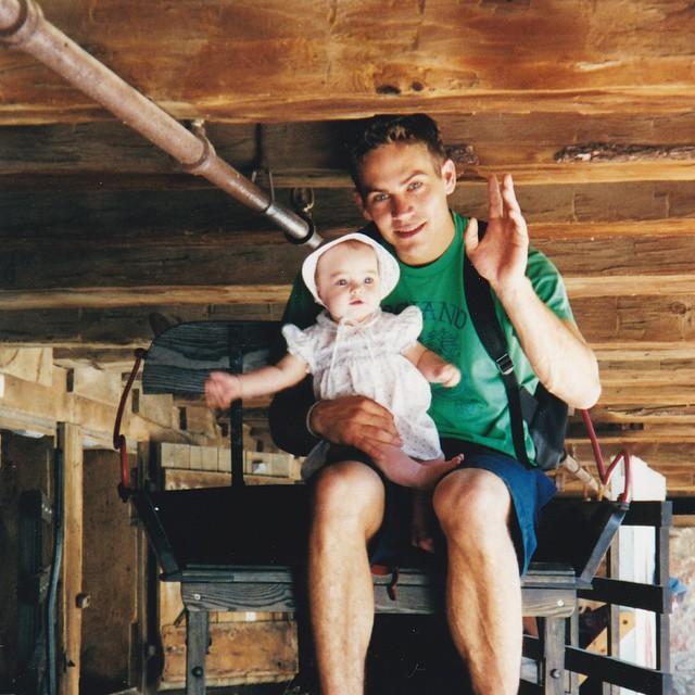 Paul Walker z córeczką Meadow