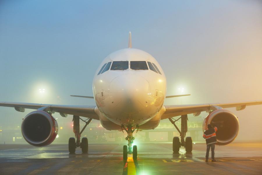 Mgła na lotnisku