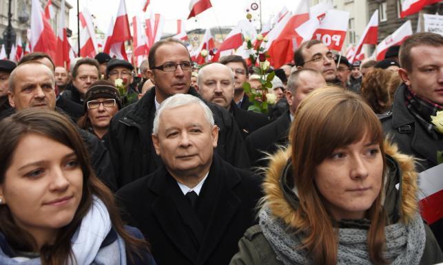 Marsz PiS w Warszawie. \