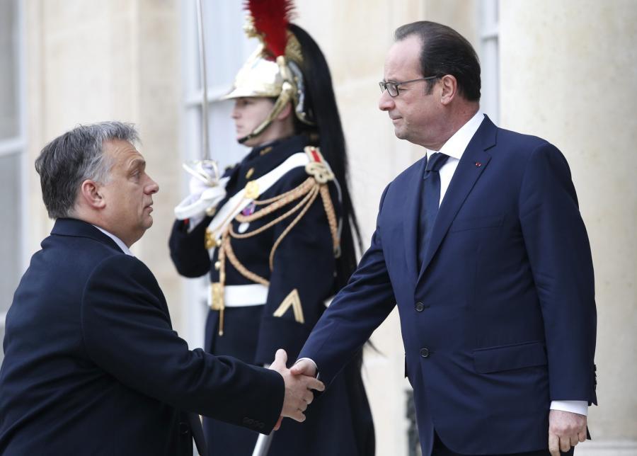 Wiktor Orban i Francois Hollande