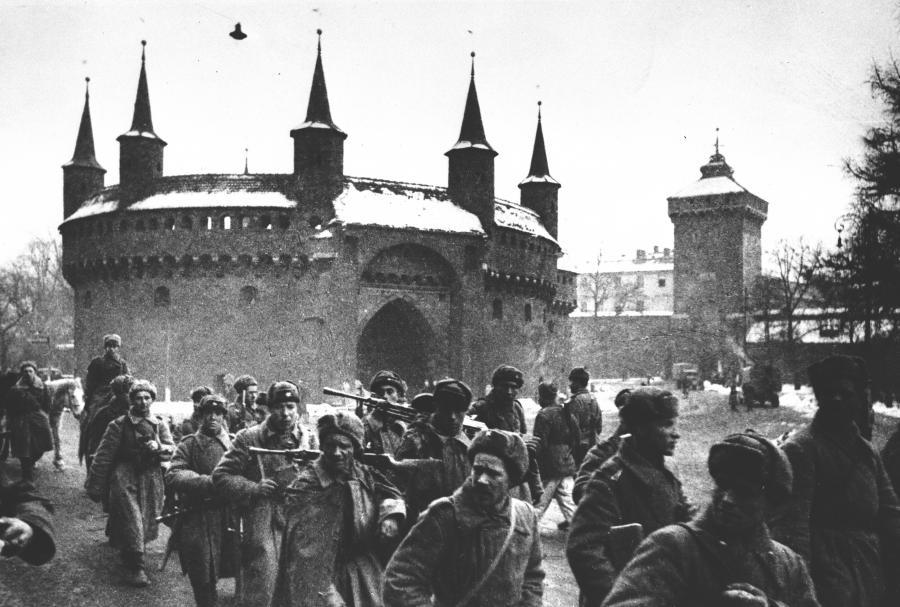 Żołnierze radzieccy w Krakowie