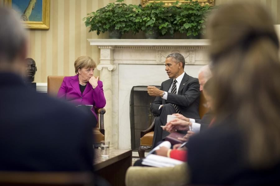 Angela Merkel i Barack Obama