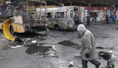 Zniszczenia w Doniecku