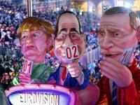 Putin i Merkel na Eurowizji, czyli tak się bawią na karnawale w Nicei