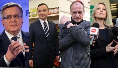 Bronisław Komorowski, Andrzej Duda, Paweł Kukiz, Magdalena Ogórek