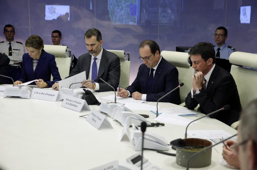 Premier Manuel Valls i prezydent Francois Hollande