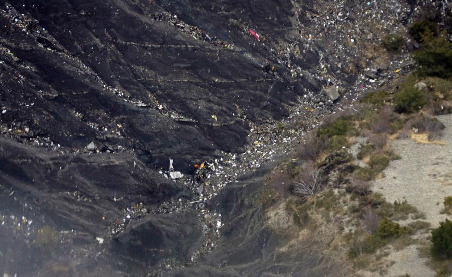 Miejsce katatrofy Airbusa A320 linii Germanwings