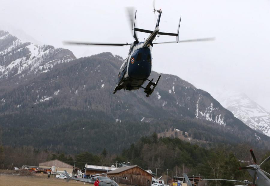Akcja poszukiwawcza po katastrofie samolotu Airbus A320 w Alpach