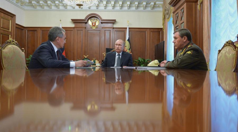 Siergiej Szojgu, Władimir Putin, Walerij Gierasimow