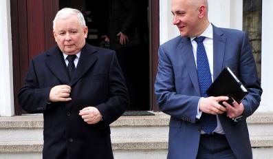 Jarosław Kaczyński i Joachim Brudziński w Szczecinie