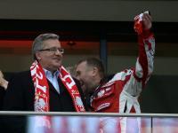Prezydent Komorowski świadkiem skandalu na Stadionie Narodowym. ZDJĘCIA