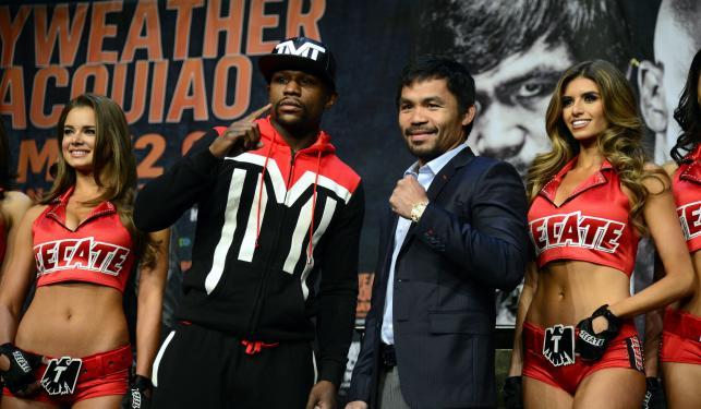 Manny Pacquiao i Floyd Mayweather stanęli twarzą w twarz