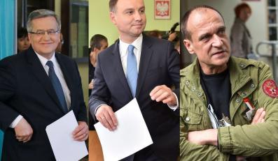 Bronisław Komorowski, Andrzej Duda i Paweł Kukiz
