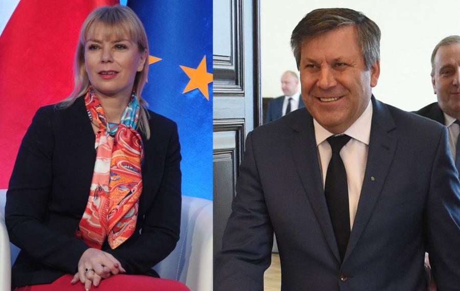 Elżbieta Bieńkowska i Janusz Piechociński
