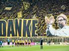 Tak kibice Borussii Dortmund żegnali Juergena Kloppa. ZDJĘCIA