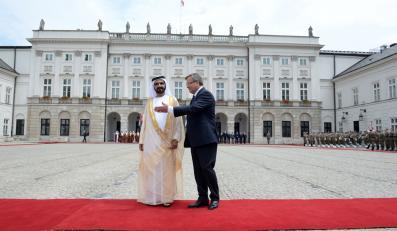 Wiceprezydent i premier Zjednoczonych Emiratów Arabskich emir Dubaju szejk Mohammed bin Rashid Al-Maktoum z wizytą w Polsce