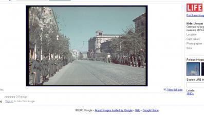 Zdjęcia starej Warszawy w Google