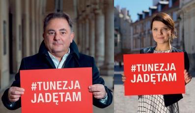 Robert Makłowicz i Joanna Jabłczyńska w kampanii #TunezjaJadęTam