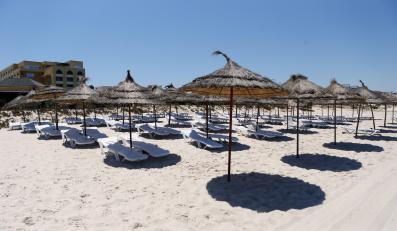 Plaża w Susa na której doszło do zamachu