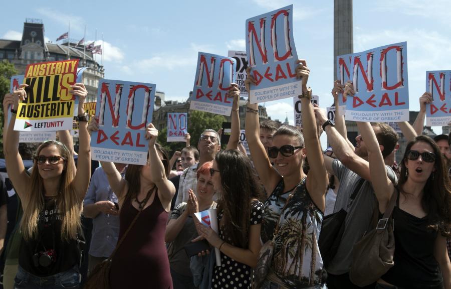 Marsz solidarności z Grecją w Londynie