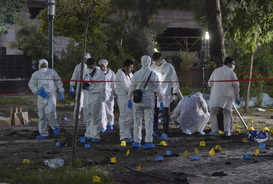 Miejsce zamachu w tureckim mieście Suruç