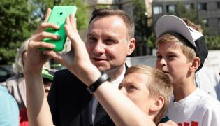 Andrzej Duda wśród młodych zwolenników