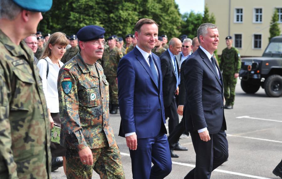 Prezydent Andrzej Duda i wicepremier Tomasz Siemoniak