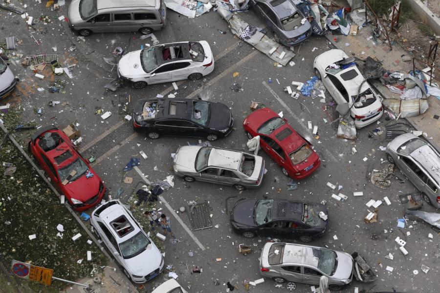 Po eksplozji w Tiencin