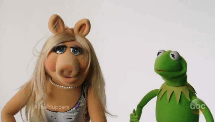 Ciężkie rozstanie Piggy i Kermita