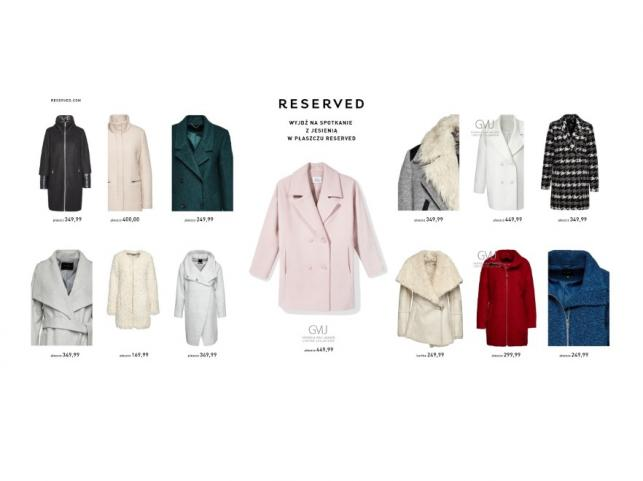 Płaszcze Reserved - kolekcja jesień/zima 2015/2016