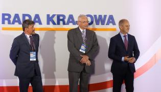 Ludwik Dorn, Grzegorz Napieralski i Michał Mazowiecki, podczas posiedzenia Rady Krajowej Platformy Obywatelskiej