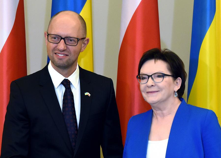 Ewa Kopacz i Arsenij Jaceniuk