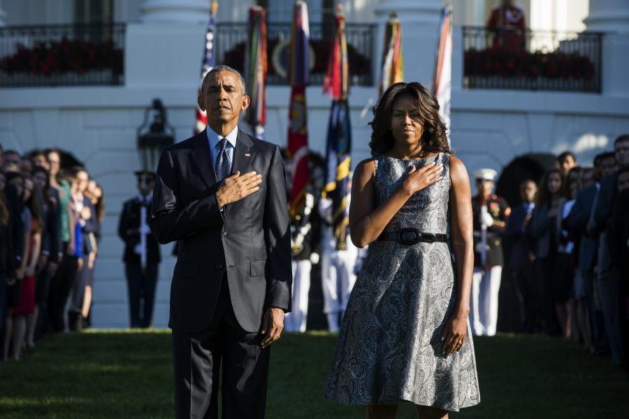 Barack i Michelle Obama oddają hołd ofiarom ataku na WTC