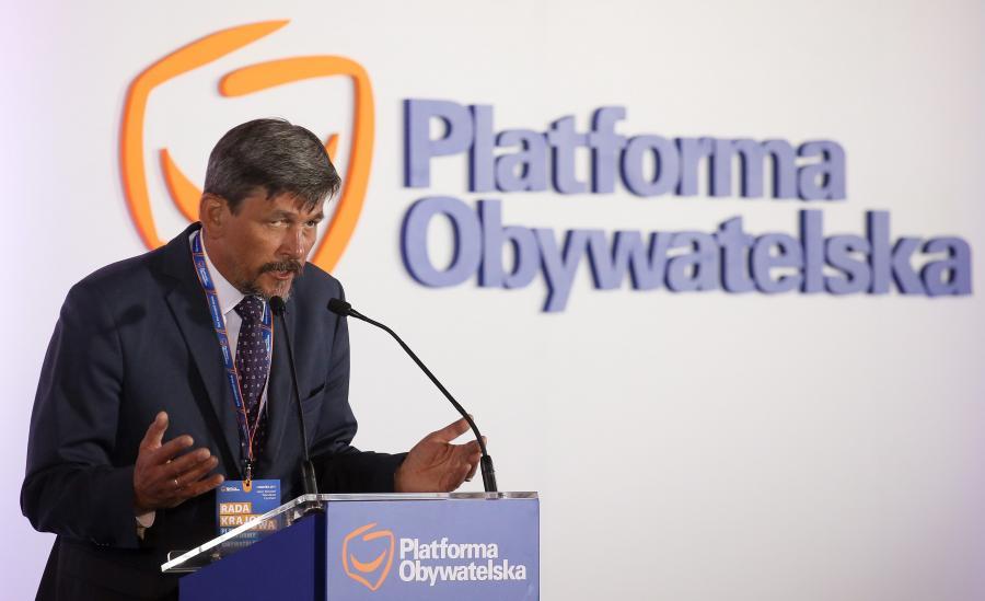 Michał Mazowiecki, podczas posiedzenia Rady Krajowej Platformy Obywatelskiej
